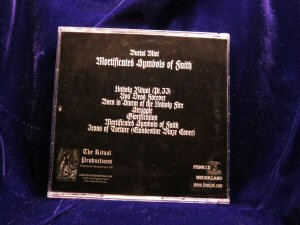 Burial Mist - Mortificated symbols of faith CD - Click Image to Close
