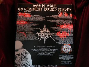 WAR PLAGUE - Government Issued Murder 7 in Vinyl EP - Click Image to Close